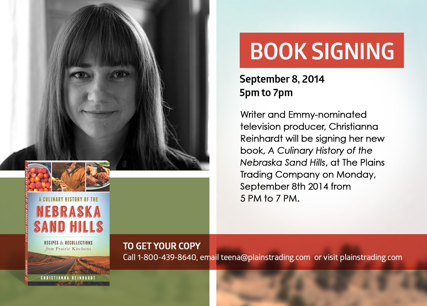Book signing September 8, 2014