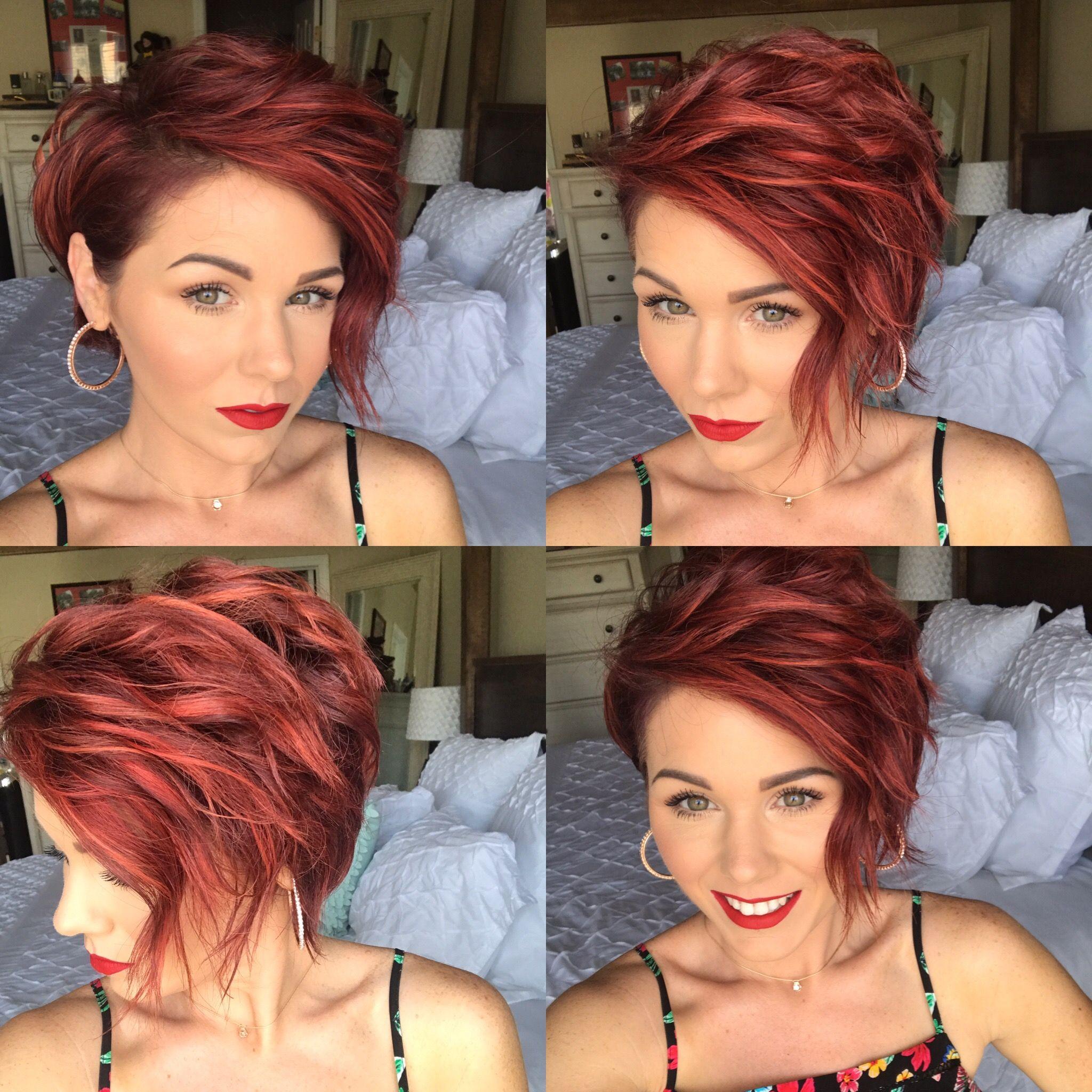 Shorthair redhair redhead bob hair pinterest cabello