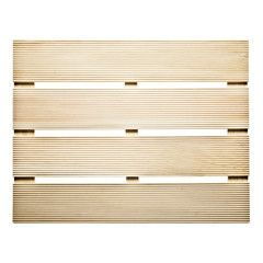 Japanese Hinoki Cypress Wood Bath Mat Mildew Resistant