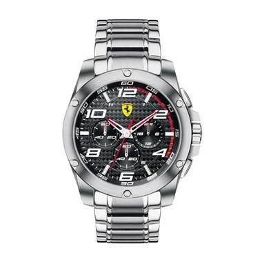 f48f3d10654 Scuderia Ferrari Paddock Stainless Steel Watch with Carbon Fiber Dial