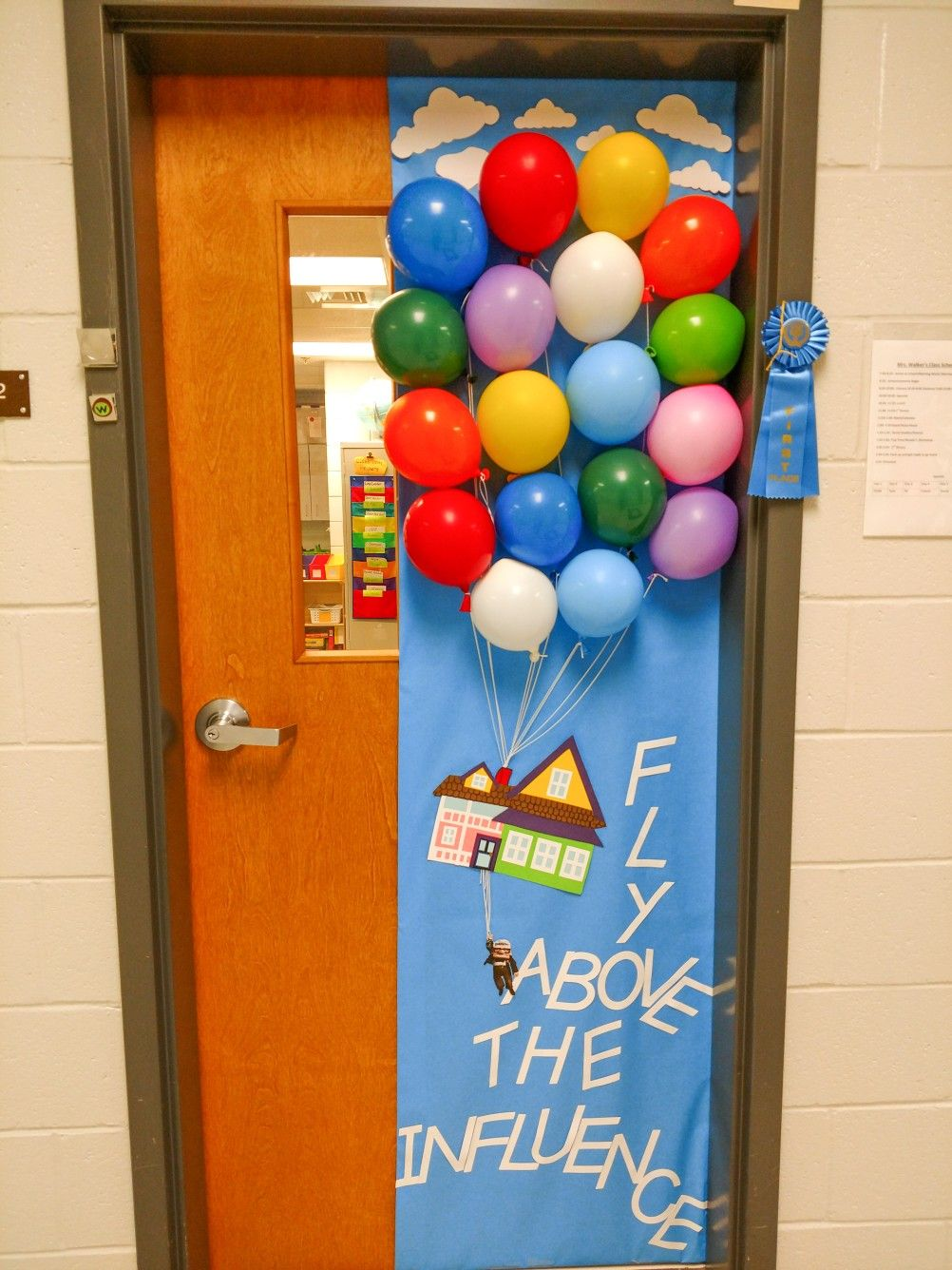 Welcome Classroom Decoration Ideas ~ Teacher door decorating for red ribbon week up movie