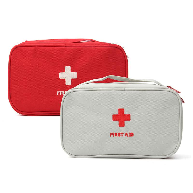 Portable Empty First Aid Bag Kit Pouch Home Office Medical Emergency Travel Rescue Case Bag Medical Package Emergency Bag Emergency Medical Survival First Aid Kit