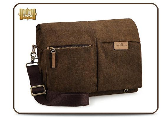 Canvas Camera Bag SLRS Bag Brown  Bag -C01112R1