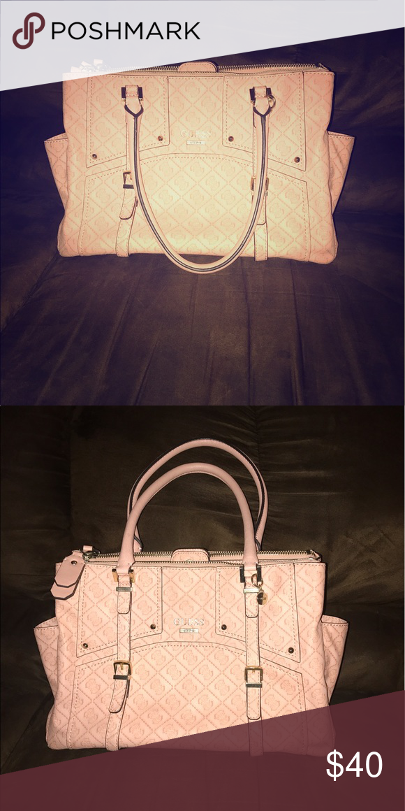906ff1304c0 Shop Women s Guess Cream Pink size OS Shoulder Bags at a discounted price  at Poshmark.