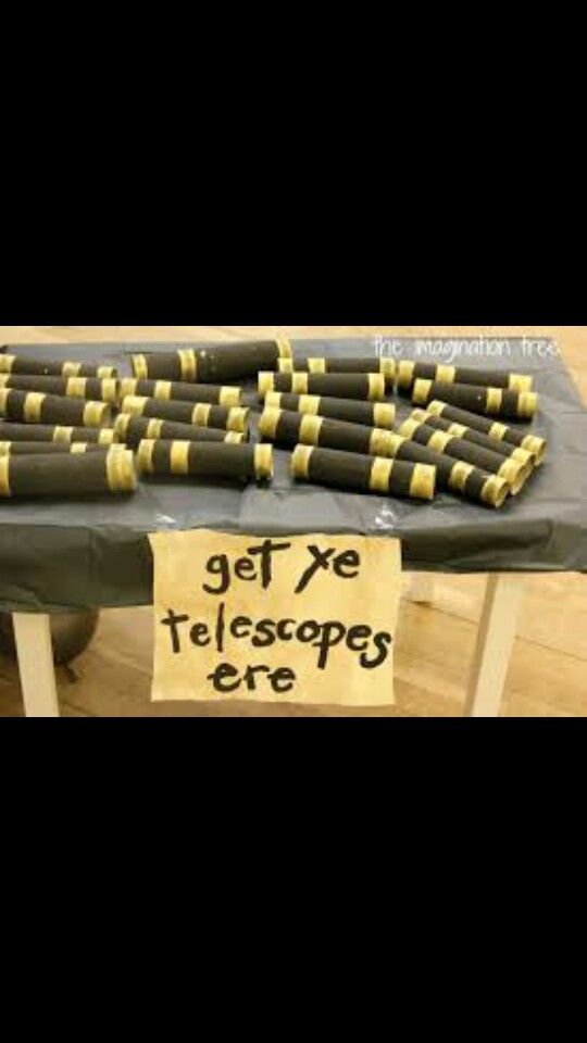 Get ye telescope ere #pirate #party #favors #cuteideas