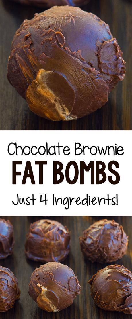 4 Ingredient Keto Chocolate Brownie Bombs
