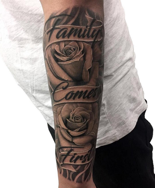 Family Half Sleeve Tattoo : family, sleeve, tattoo, Chronic, Yonge, Eglinton, Toronto, Realism, Family, Comes, First, Roses, Sleeve, Tattoo,, Tattoos, Guys,