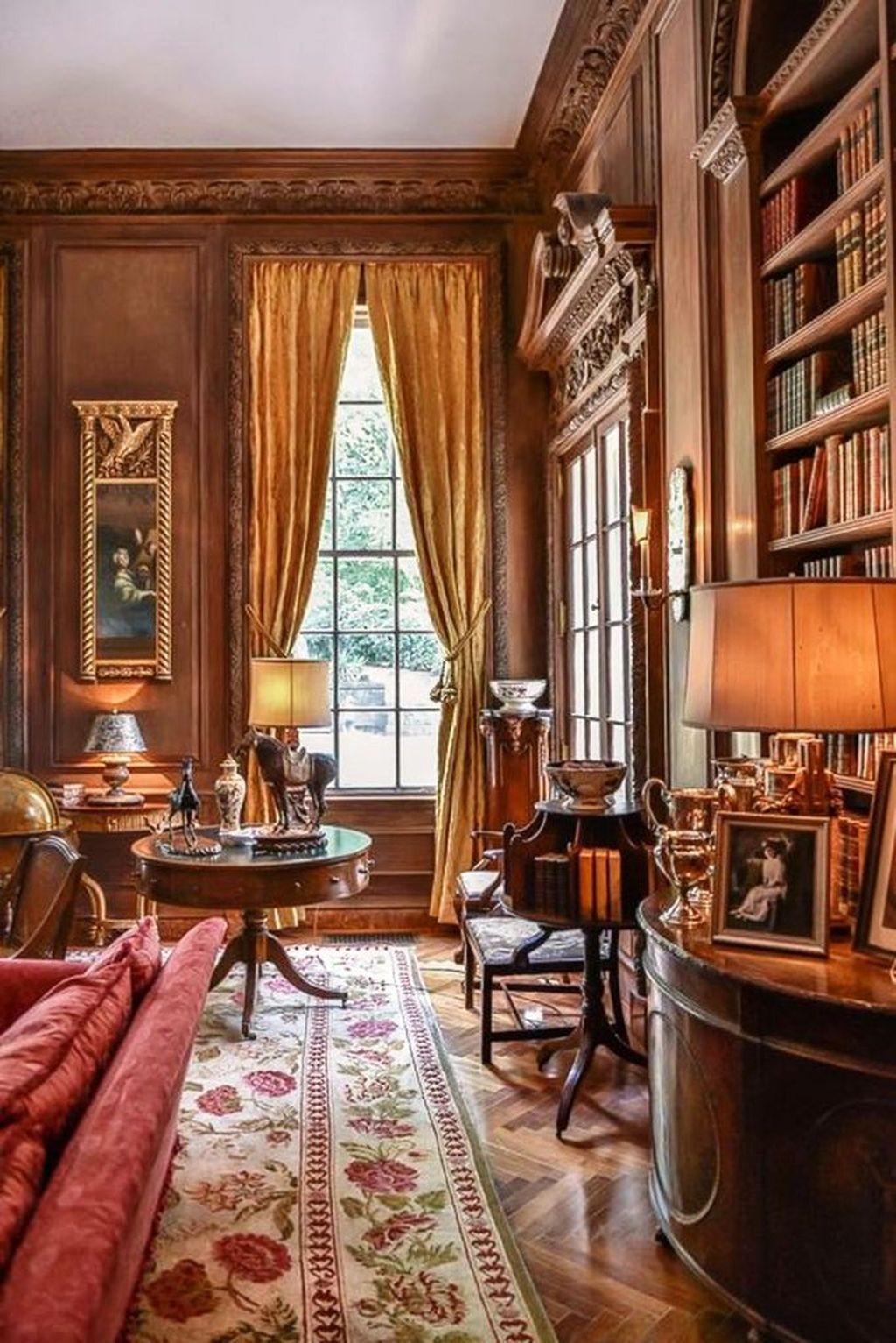 Amazing Home Libraries: 38 Amazing Home Library Design Ideas With Rustic Style En