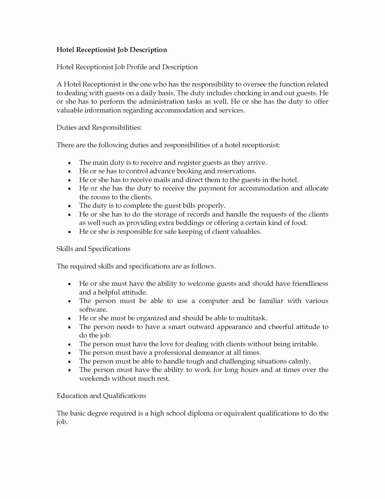 Receptionist Job Description Resume Reception Job Description Resume Receptionist Jobs Resume Job Resume