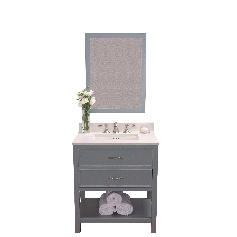 mirror size for 30 inch vanity. Ronbow Newcastle 30 Inch Ocean Bathroom Vanity Set With Mirror  Quartz Countertop And Grey