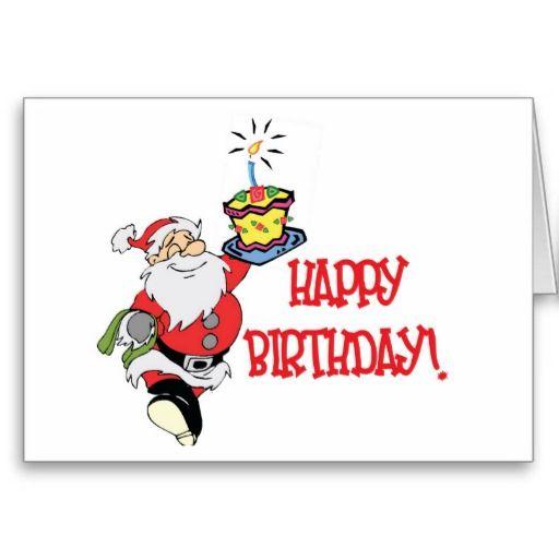 Christmas Birthday Card Zazzle Com Christmas Birthday Cards Birthday Greeting Cards Birthday Greetings