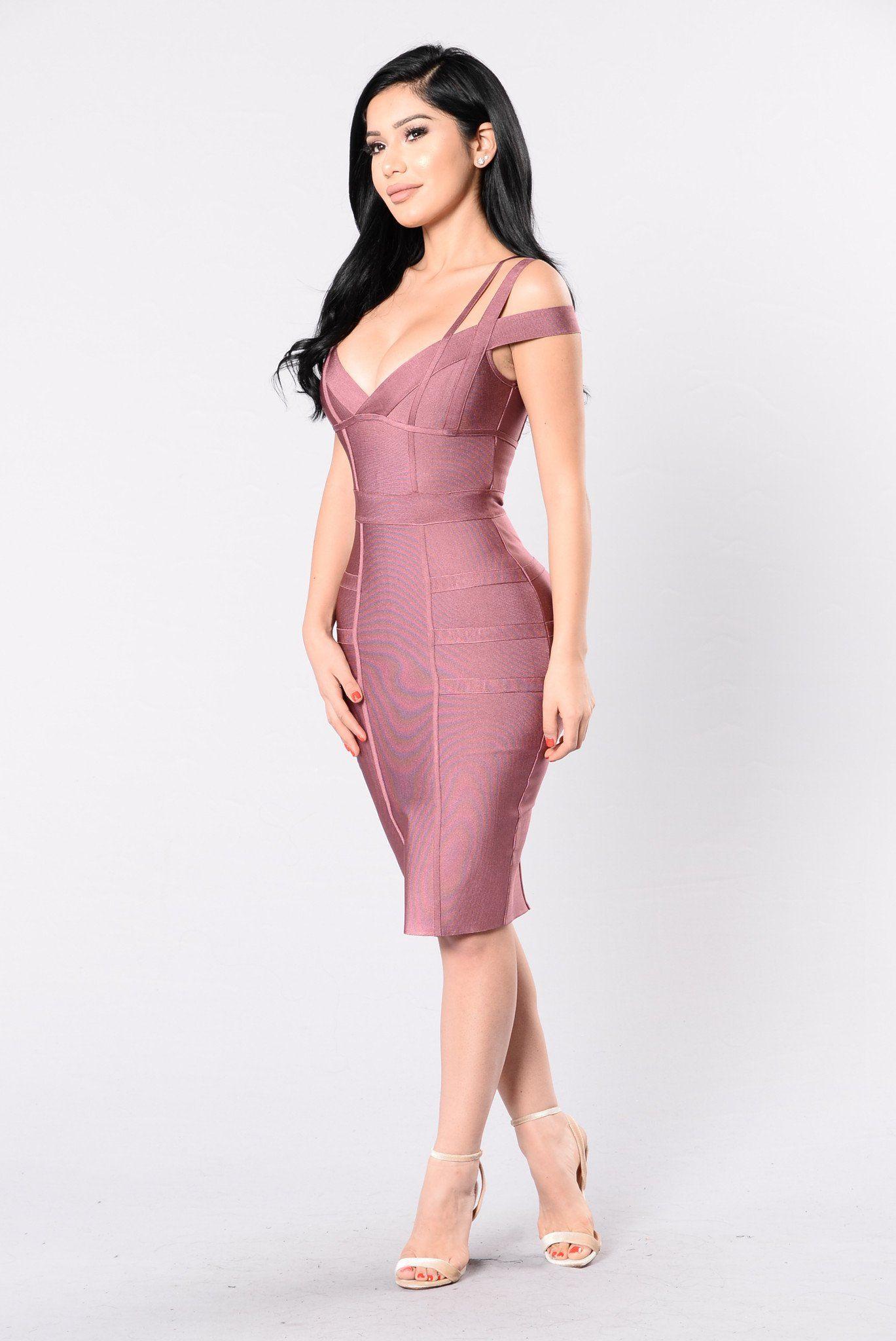 Lansa Bandage Dress - Dark Mauve   Vestidos de fiesta, Vestiditos y ...