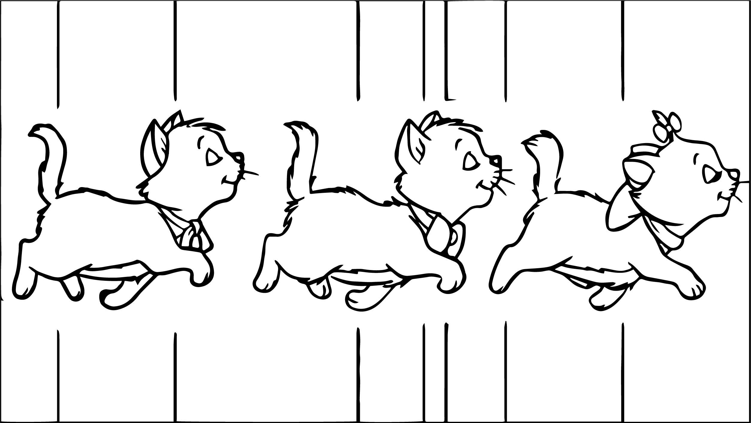 Cool Three Walking Cats Disney The Aristocats Coloring Page Coloring Pages Disney Coloring Pages Cartoon Coloring Pages