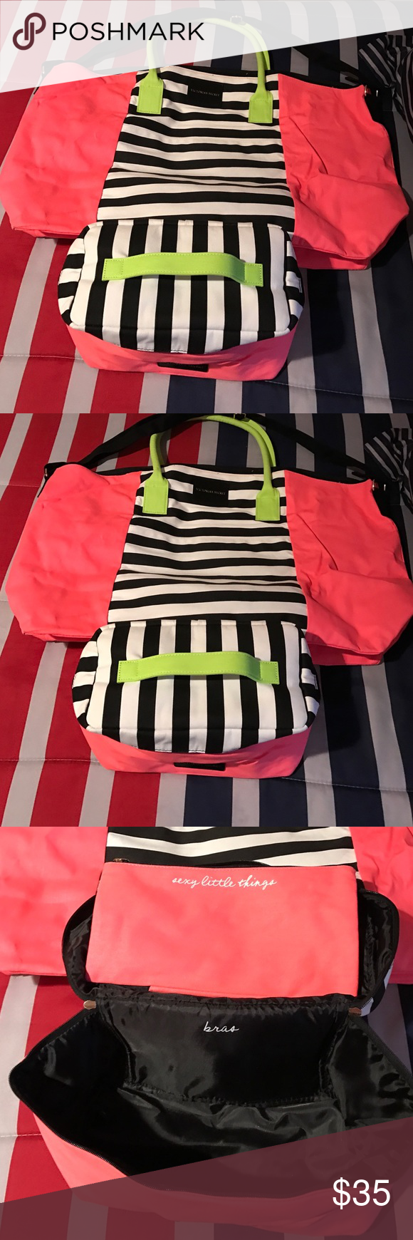 Bag Extra large bag with make up bag never used PINK Victoria's Secret Bags Travel Bags