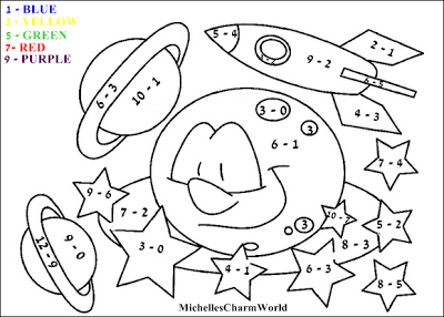 Fun with Learning! Subtraction Coloring Sheet
