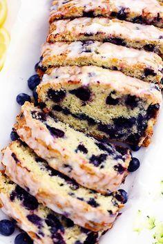 Blueberry Zucchini Bread with a Lemon Glaze | The Recipe Critic