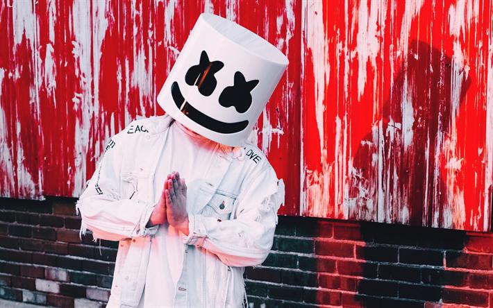Download Wallpapers Marshmello, 2017, DJ, Superstars, DJ