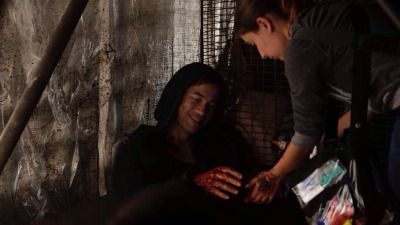 Dominion BTS Tom Wisdom gets more blood on his hands.