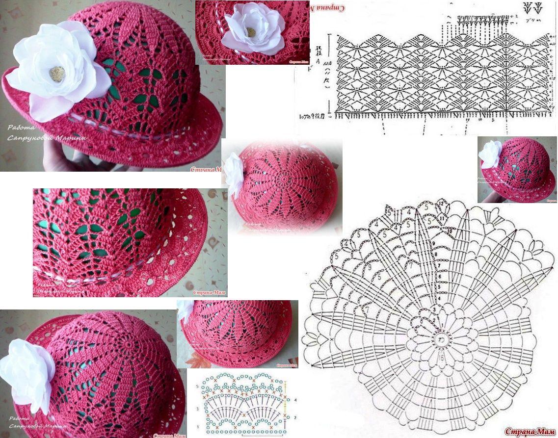 Pin de Жанна Великанова en Шляпки | Pinterest | Gorros, Sombreros de ...