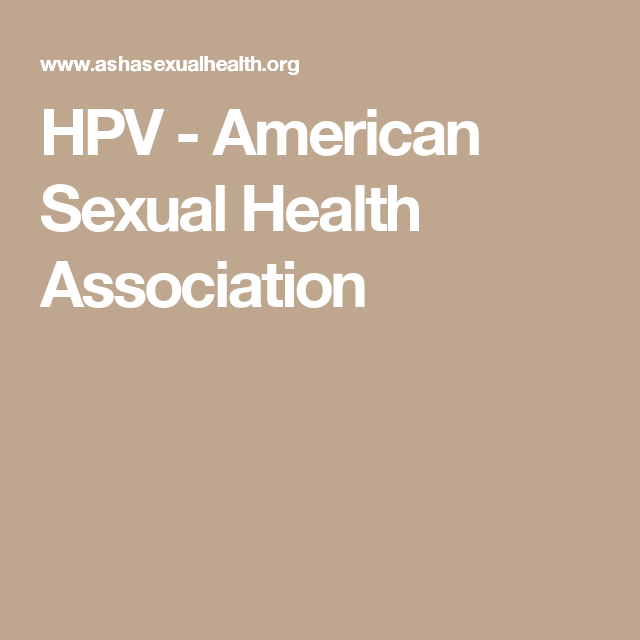 American sexual health association hpv
