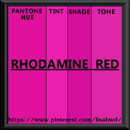 Pantone Seasonal Color Swatch Rhodamine Red Purple Palettes Pink Shades