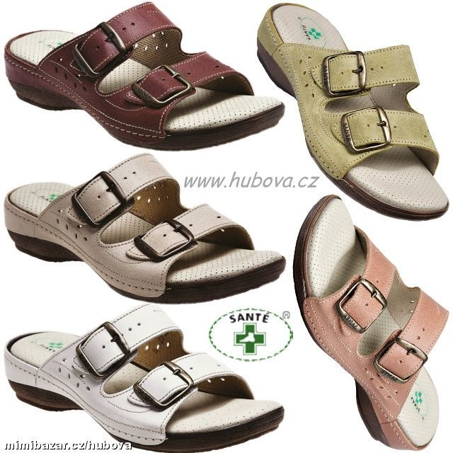 N 124 3 Dámské zdravotní pantofle boty obuv SANTÉ 608 678b4eef9e