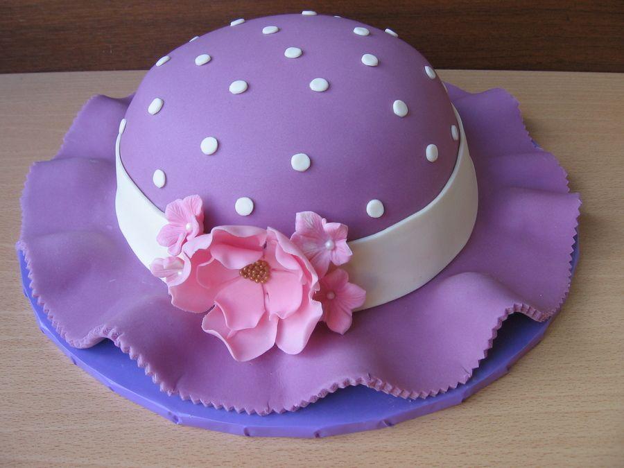 Spring Hat Cake Birthday Cakes Cakes Pinterest Hat Cake