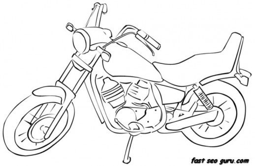 Free Printable Race Motorbike Colouring Pages For Kids With