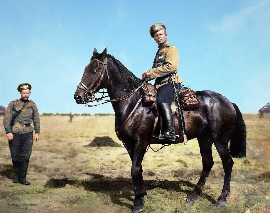 Russian Cavalryman Wwi By Olga