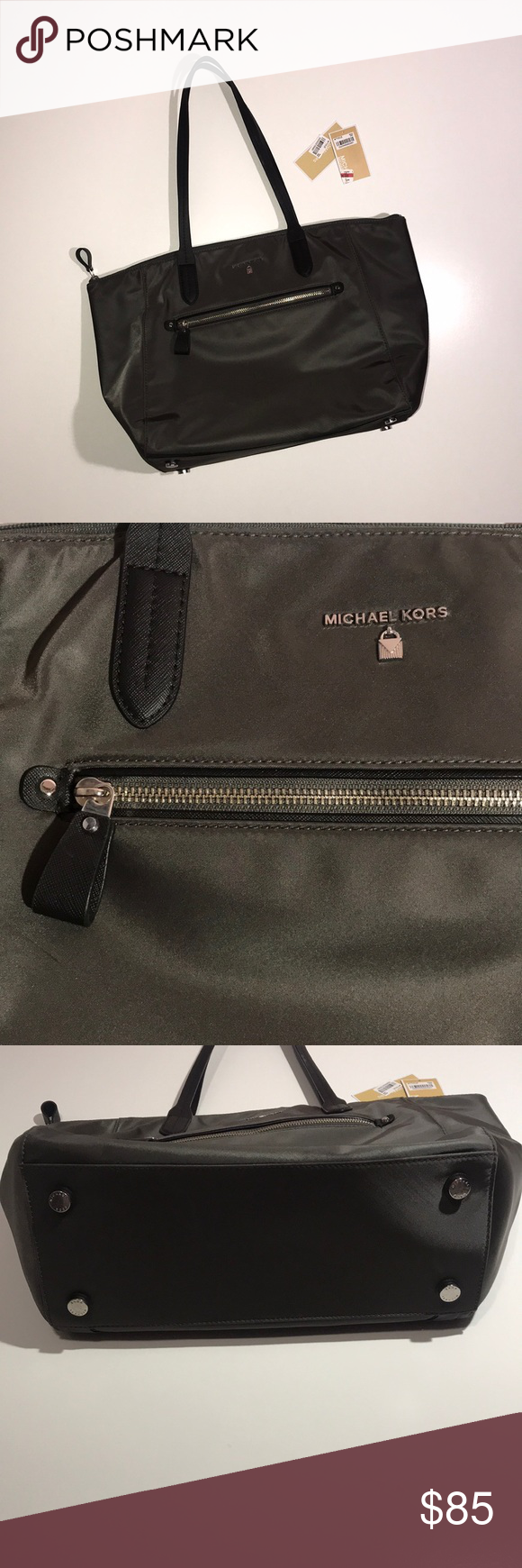 0f2e89a0f6d2 NWT Michael Kors Graphite grey nylon Kelsey tote NWT Michael Kors graphite  grey nylon large zip Kelsey tote. Perfect condition.