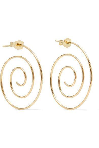 Beaufille Spiral 10 Karat Gold Earrings