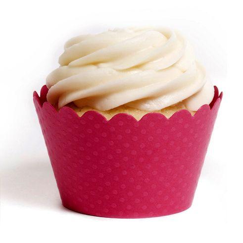 Emma Cupcake Wrappers - Dark Pink shoptomkat.com