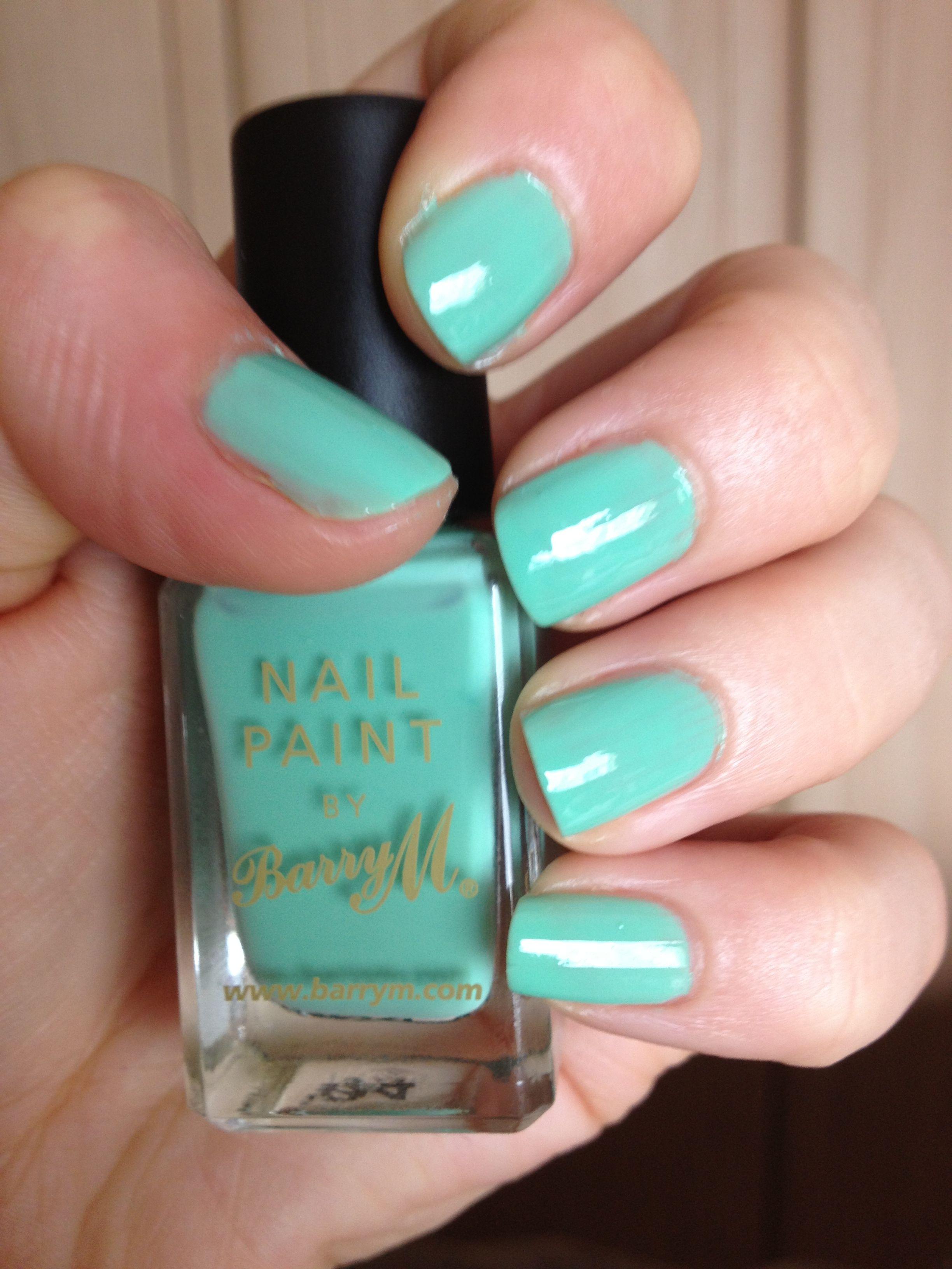 Barrym mint green nails pinterest mint green