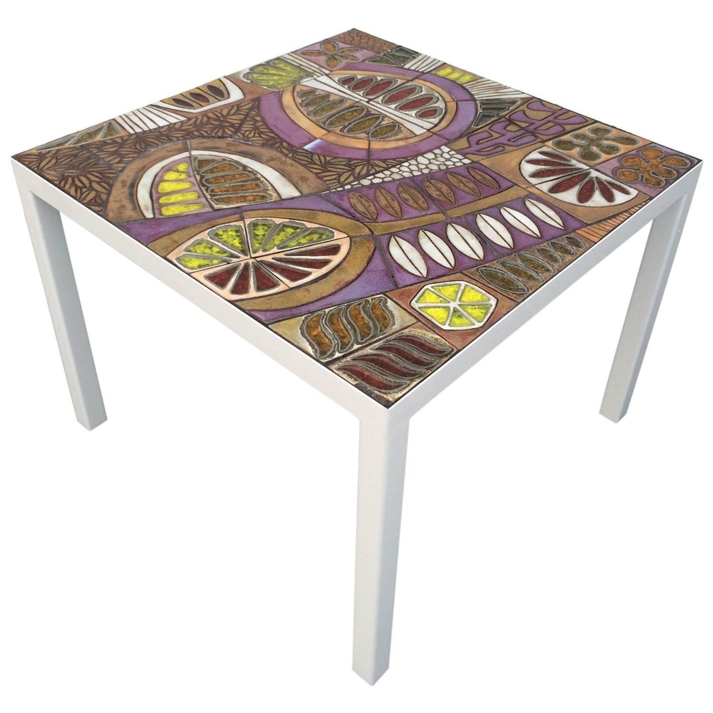 Studio Ceramic Tile Top Table by Brent Bennett 1