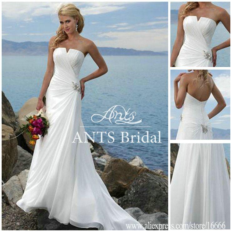 beach wedding gowns 2014   ... -Off-the-Shoulder-White-Chiffon-Beach ...