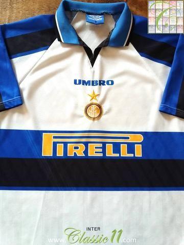 9464815cdb12d Relive Inter Milan's 1996/1997 season with this original Umbro away  football shirt.