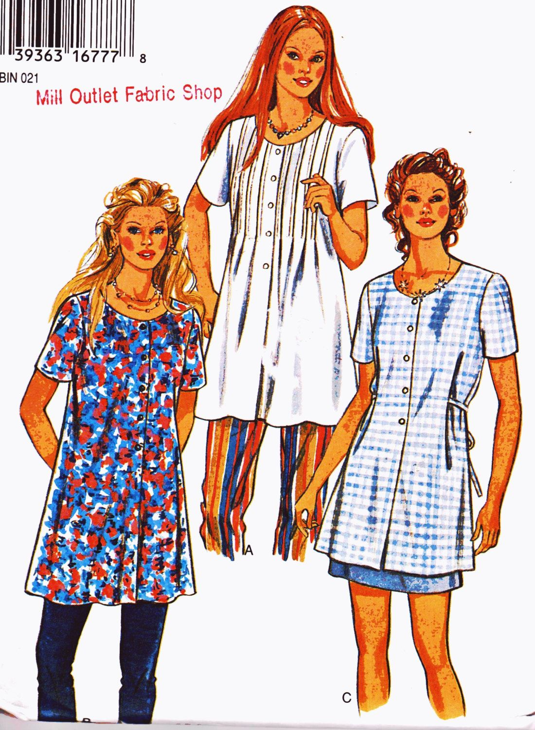1990s womens sewing pattern flared tunic top button down short 1990s womens sewing pattern flared tunic top button down short sleeve maternity plus size 8 18 bust 315 40 new look 6344 jeuxipadfo Choice Image