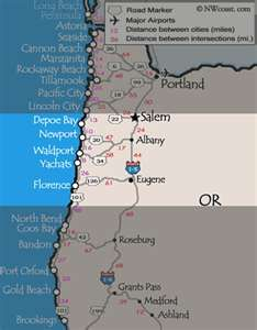 oregon coast cities map Beautiful Drive Oregon Coast Oregon Beaches Oregon Coast oregon coast cities map