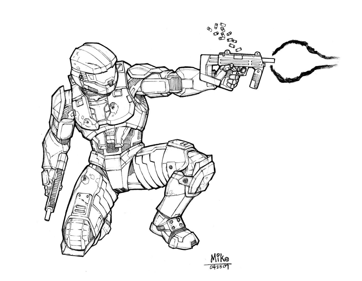 Master Chief By The Other Mike Jpg 1 500 1 164 Pixels Halo Drawings Halo Master Chief Halo Armor