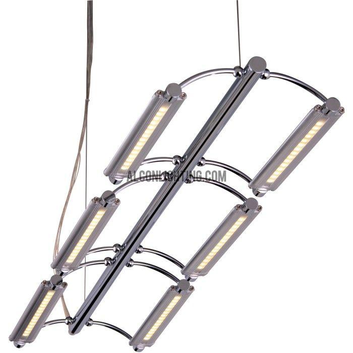 ET2 Helix 6 Light LED Linear Suspended Pendant Fixture E20941 10 The Fixtures