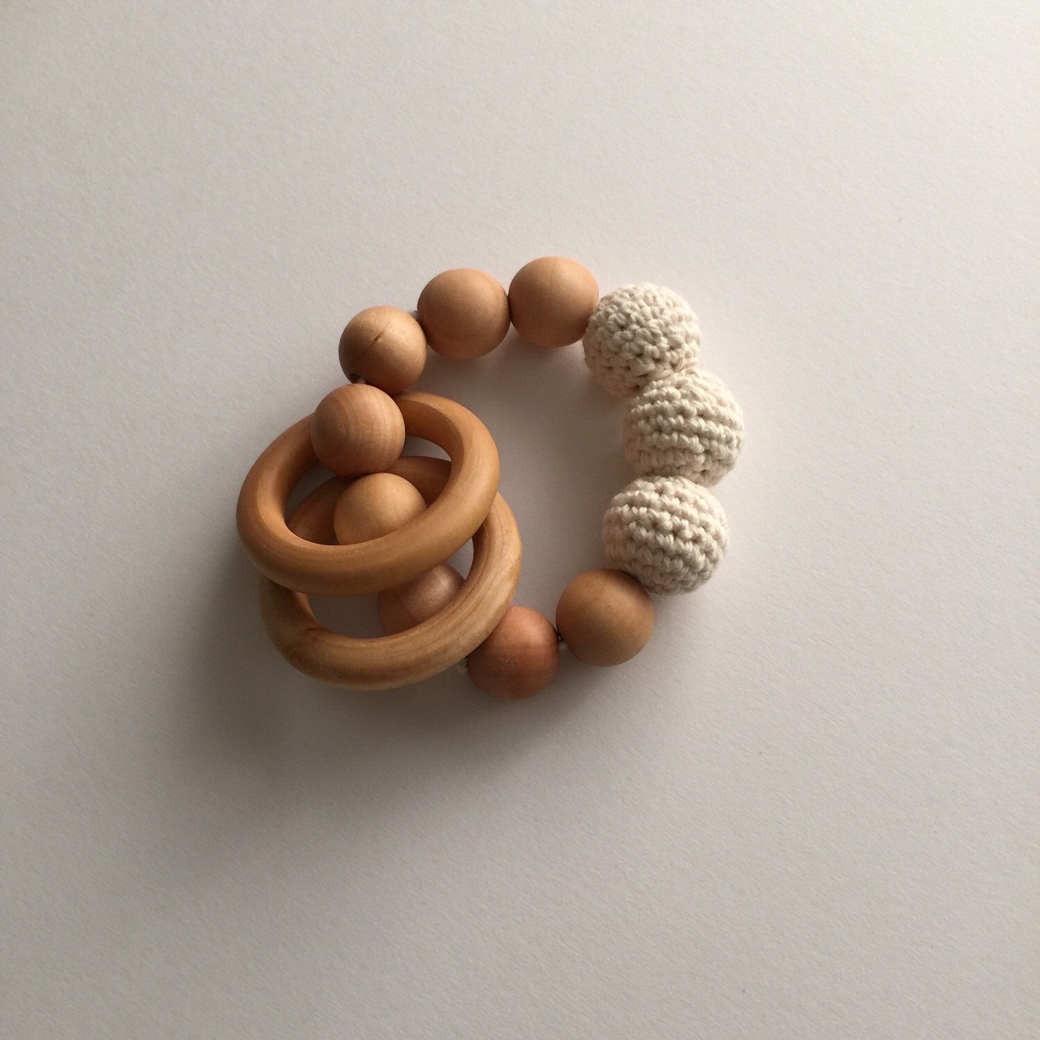100% Organic Cotton Crocheted Teething Toy by EarthandMirthShop on Etsy https://www.etsy.com/listing/292286415/100-organic-cotton-crocheted-teething