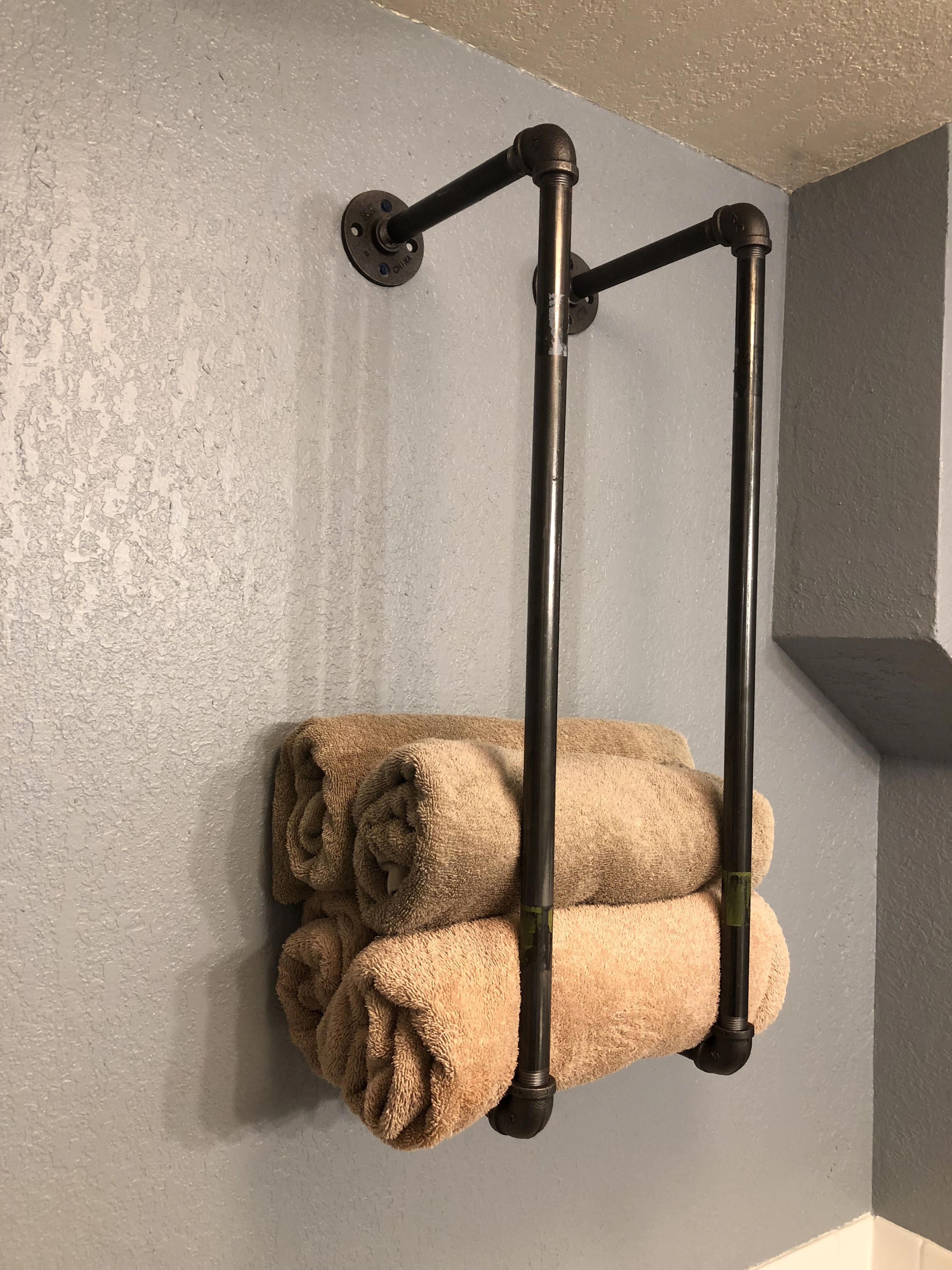 10 Good Resolutions For Toilets In 2020 Towel Storage Towel