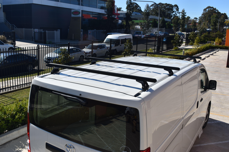 Vas Commercial Roof Racks Fitted On A New 2019 Toyota Hiace Van Shelving Australian Design Roof Racks