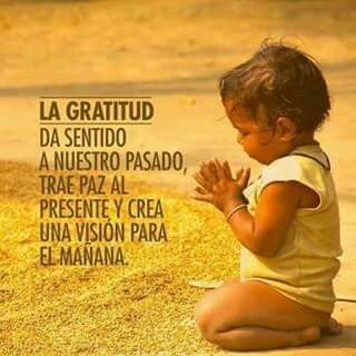 Gratitud, vida, pasado, presente, paz