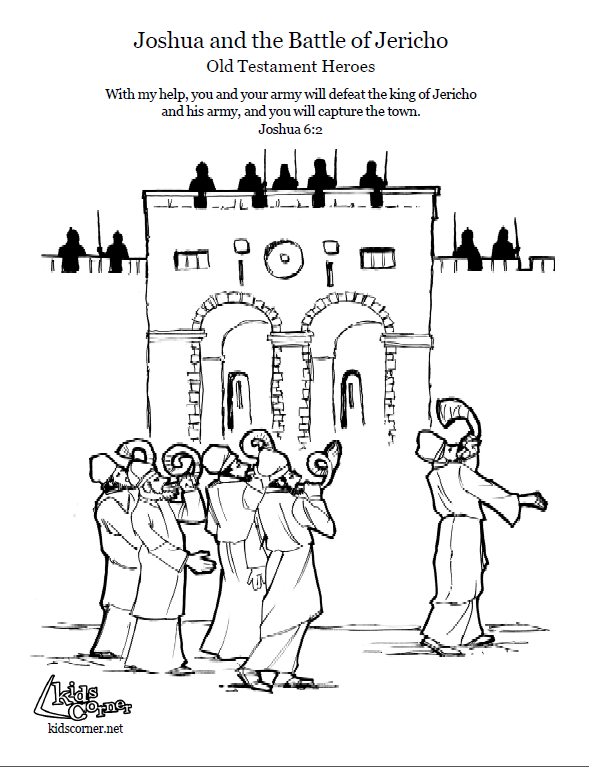 battle of jericho coloring page
