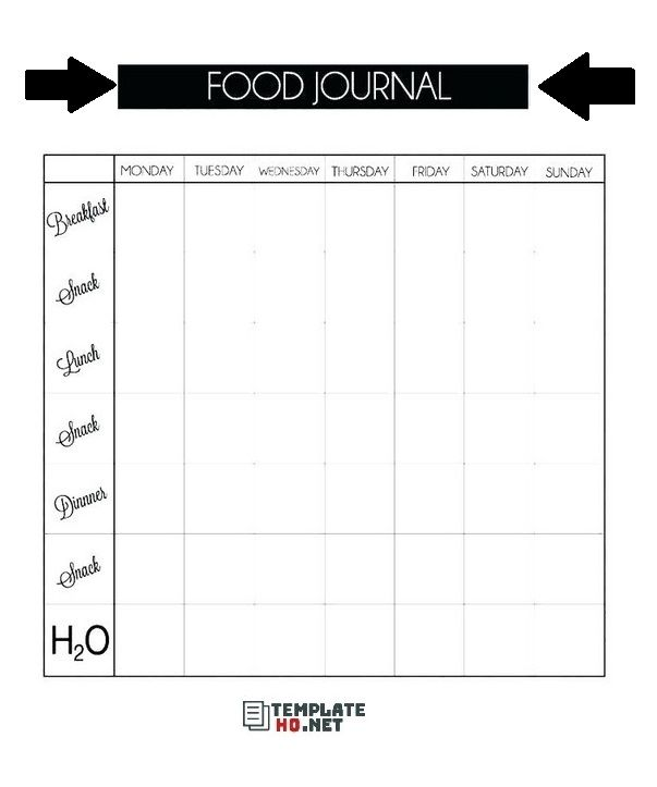 20 Great Samples Of Baby Food Diary Templates: A Log For ...