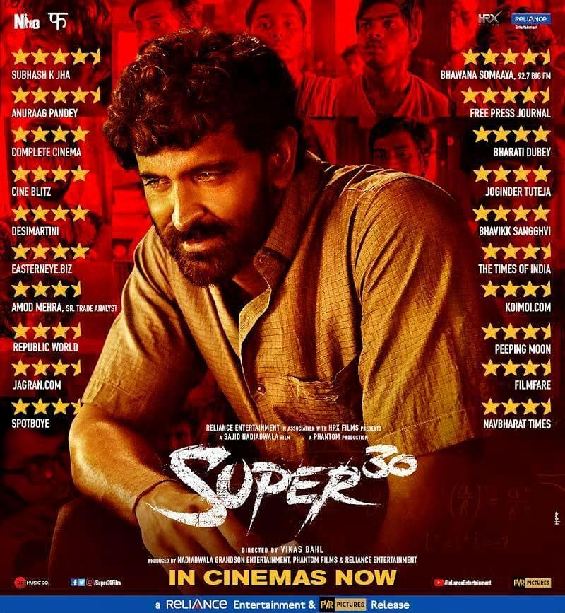 Hrihtik Roshan Super 30 Reviews Hrithik Roshan Free Movies Online Film