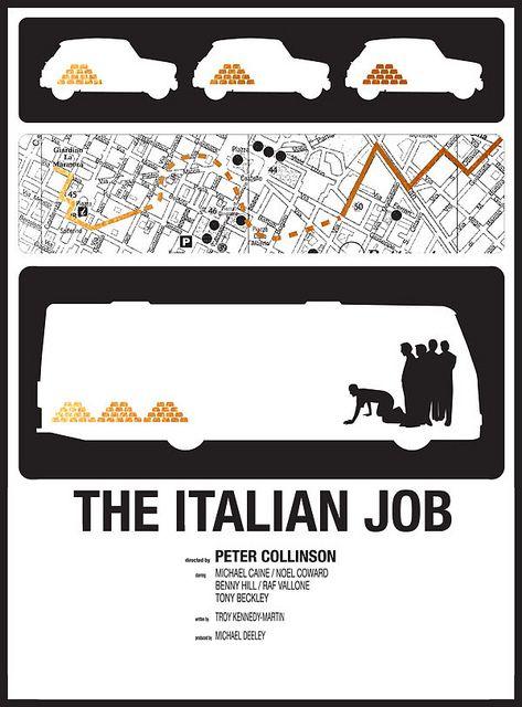 The Italian Job C I N E M A T I C Film Grafici