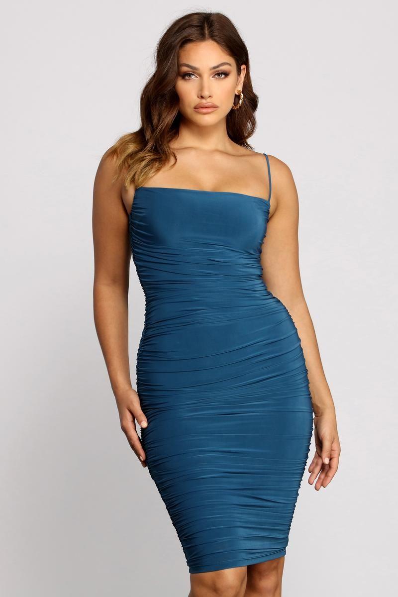 Sultry Chic Ruched Midi Dress Ruched Midi Dress Dresses Midi Dress [ 1200 x 800 Pixel ]