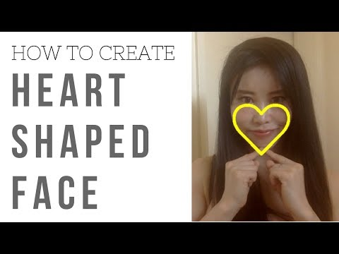 how to create heart shaped face  3 face yoga exercises